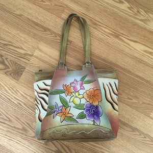 Great American Leather Works Painted Shoulder Bag